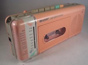1980s Sharp Cassette:radio